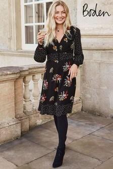 Boden Black Ivy Dress