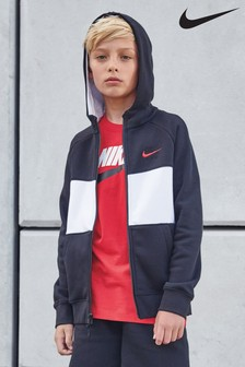 Nike Air Black/White Zip Through Hoody