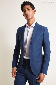 French Connection Blue Slim Fit Flannel Jacket