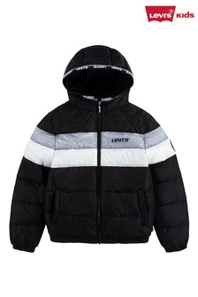 Levi's® Black Colourblock Logo Puffer Jacket