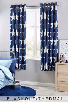 Star Print Eyelet Curtains