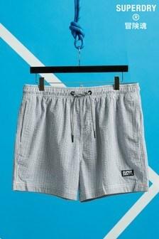 Superdry Volley Seersucker Swim Shorts