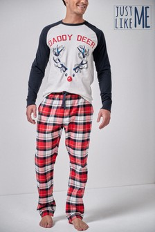 Mens Matching Family Reindeer Pyjamas