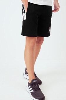 adidas Black 3 Stripe Shorts
