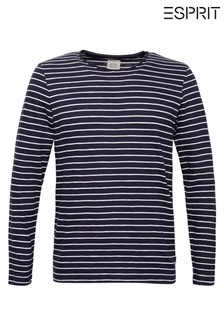 Esprit Navy Striped Long Sleeve T-Shirt