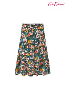 Cath Kidston® Blue Jungle Book Flowers Tiered Skirt