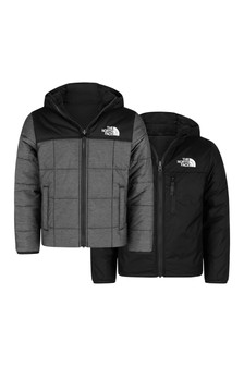 Boys Dark Grey Reversible Perrito Jacket