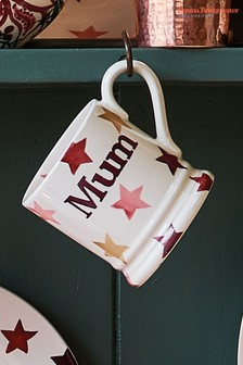 Emma Bridgewater Pink/Gold Stars Mum Half Pint Mug