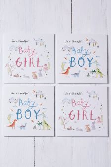 Buy newborn boys unisex newborn greeting cards greetingcards from 4 pack baby boy and baby girl multi pack card set m4hsunfo