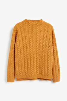 Cable Funnel Neck Jumper
