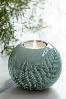 Ceramic Fern Tealight Holder