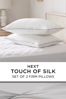 Set of 2 Sleep In Silk Firm Pillows