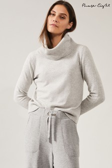 Phase Eight Grey Odelia Cowl Neck Jumper
