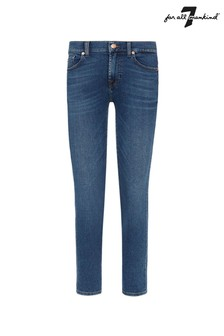 7 For All Mankind Mid Blue Roxanne Ankle Jeans