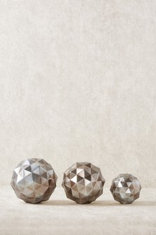 Set of 3 Metallic Orbs