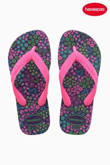 Havaianas® Purple Ditsy Brasil Flip Flop
