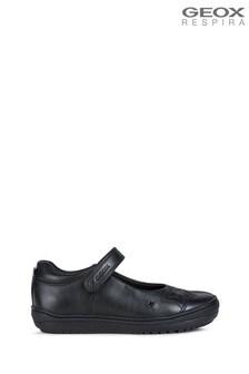 Geox Junior Girl's Hadriel Black Shoes
