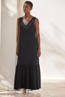 V-Neck Column Maxi Dress