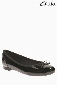 Clarks Black Patent Couture Bloom Ballet Shoe