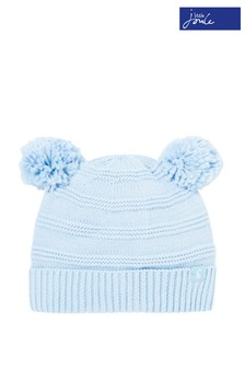 Joules Blue Pom Pom Knitted Hat