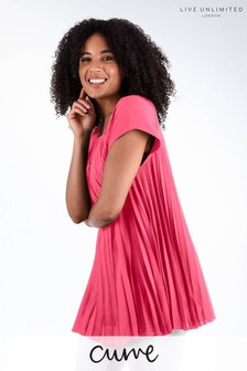 Live Unlimited Curve Pink Pleated Top