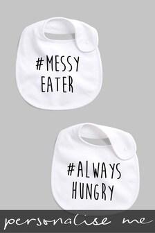 Personalised Hashtag Messy Eater Bib