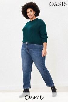 Oasis Blue Curve Boyfreind Jeans