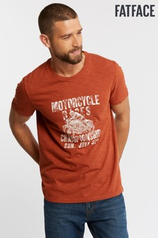 FatFace Brown Motorcycle Races Graphic T-Shirt