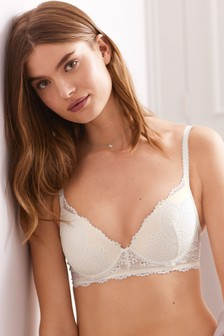 Carrie Lace Light Pad Plunge Bra