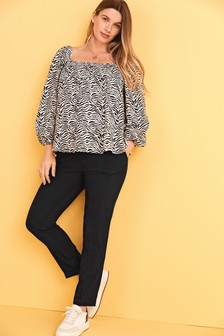 Maternity Relaxed Tailored Trousers