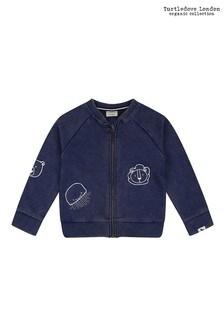 Turtledove London Organic Cotton Lava Wash Navy Bomber Jacket