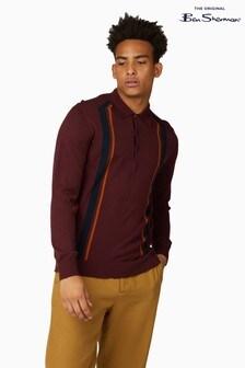 Ben Sherman Port Long Sleeve Mod Stripe Polo
