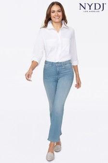 NYDJ Light Blue Denim Marilyn Straight Ankle Jeans