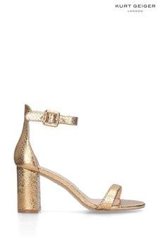 Kurt Geiger London Gold Langley Sandals