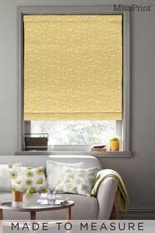 Saplings Sunflower Orange Made To Measure Roman Blind by MissPrint