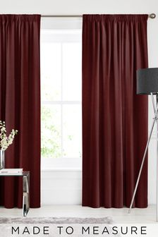 Soho Merlot Red Made To Measure Curtains