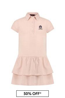 Aigner Girls Pink Cotton Dress