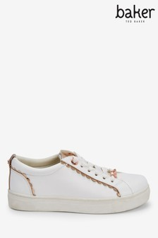 Baker By Ted Baker White Scallop Sneakers