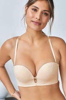 Push Up U-Plunge Lace Multiway Bra
