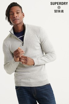 Superdry Orange Label Cotton Henley Jumper