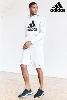 adidas White Melange Logo Short
