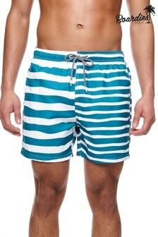 Boardies Double Stripe Mid Length Swim Shorts