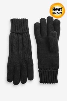 Rękawiczki ze ściegiem warkoczowym utrzymujące ciepło