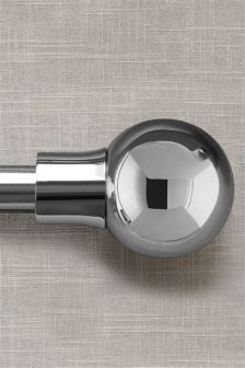 19mm Chrome Ball Extendable Curtain Pole