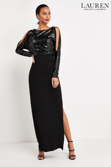 Lauren Ralph Lauren® Black Perina Sequin Maxi Dress