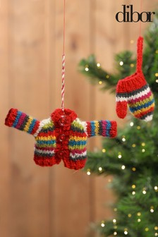 Pair Of Christmas Tree Decorations by Dibor