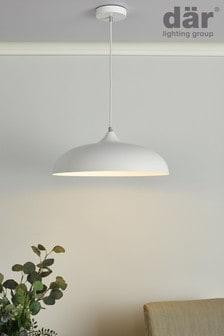 Dar Lighting White Kaelan Pendant