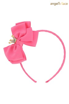 Angel's Face Pink Alice Band With Crown
