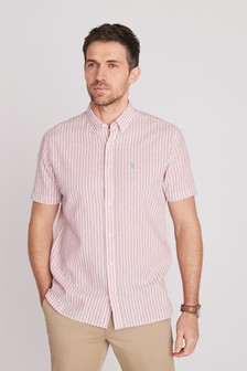Linen Blend Short Sleeve Shirt