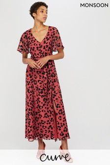 Monsoon Rust Annie Animal Burnout Maxi Dress